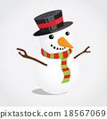 Happy Christmas snowman 18567069