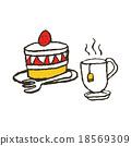 케이크, 케익, 티타임 18569309