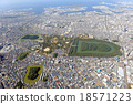 Emperor Nintoku and other tombs in the aerial photograph 18571223