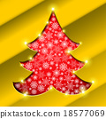 Christmas tree with golden border 18577069