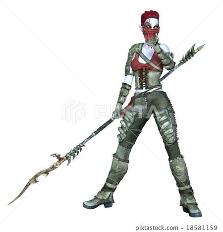 Female fighter 18581159