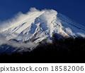 富士山 严冬 粉状的雪 18582006