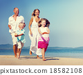 beach, family, playing 18582108