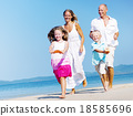 beach, family, playing 18585696