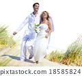 Couple Romance Beach Love Marriage Concept 18585824