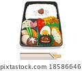 便當 午餐盒 營養的 18586646