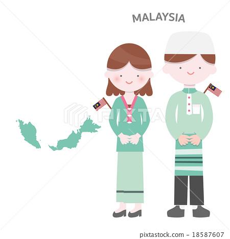 Malaysian People Clipart Malaysia AEC People Se...
