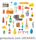 Flat design of picnic items set 18594991