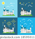 Flat design of Neuschwanstein castle Germany 18595011