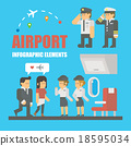 Flat design of airport infographic elements 18595034