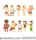 Flat design of beach people 18595076