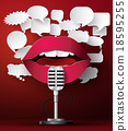Lips are talking to the microphone 18595255