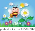 bee flying around 18595282