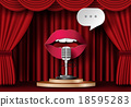 Lips are talking to the microphone 18595283