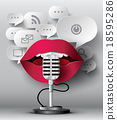 Lips are talking to the microphone 18595286