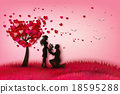 Two enamored under a love tree 18595288