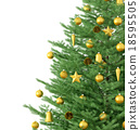 Christmas tree isolated 3d rendering 18595505
