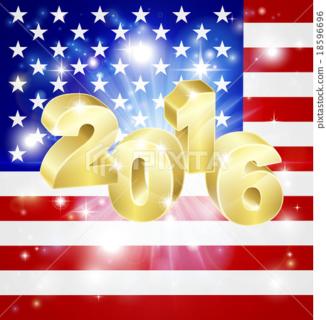usa flag 2016 concept