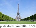 파리의 에펠 탑, 정면 옆 18602224