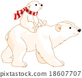 Polar Bear Mom and Baby 18607707