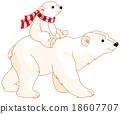 Polar Bear Mom and Baby 18607707