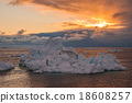 Iceberg at sunset, Disko bay, Greenland 18608257
