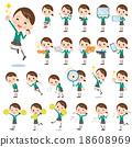 school girl Green Blazer 2 18608969