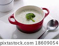 Cream of broccoli soup 18609054