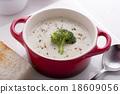 Cream of broccoli soup 18609056