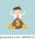 businessman, cartoon, man 18609511