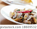 Thai food Stir Fried Clams 18609532