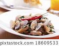 Thai food Stir Fried Clams 18609533