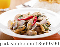 Thai food Stir Fried Clams 18609590