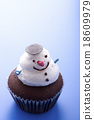 Snowman cupcake 18609979