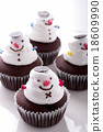 Snowman cupcake 18609990