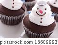 Christmas cupcake 18609993