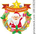 聖誕花環 聖誕老人 聖誕老公公 18610820