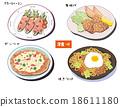 西餐 蘆筍培根 日式炒麵 18611180