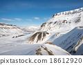 Winter landscape of Longyearbyen, Svalbard, Norway 18612920