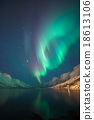 Northern Lights as seen from Ersfjordbotn, Norway 18613106