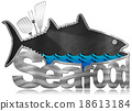 Blackboard Fish Shaped - Seafood Menu 18613184