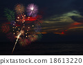 Colorful fireworks, salute of various colors 18613220