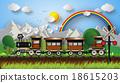รถไฟ,ภูเขา,ภาพประกอบ 18615203
