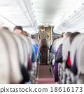 Steward on the airplane. 18616173