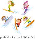 滑雪板 冬季運動 滑雪者 18617653