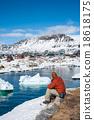 Views of Qeqertarsuaq, small town of Greenland  18618175