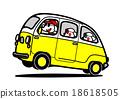 旅行车 矢量 父母和小孩 18618505