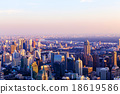 cityscape of downtown of Thailand at sunset. 18619586
