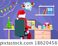 christmas, laptop, santa 18620456