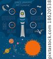 Space, universe graphic design. Infographic  18620538